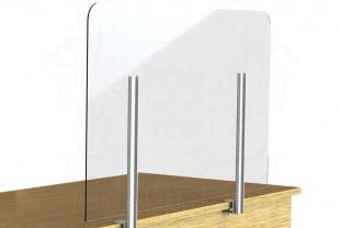 """Экран-завеса защитный 1000*600 мм (с креплением к торцу стола) """"WOW SHIELD"""""""
