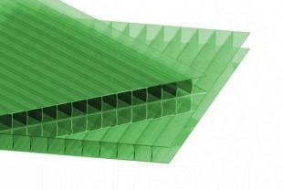 Сотовый поликарбонат IRROX толщина 10 мм, зеленый