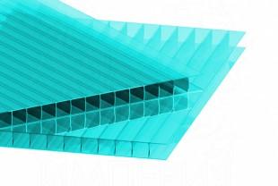 Сотовый поликарбонат IRROX толщина 10 мм, бирюза