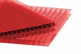 Сотовый поликарбонат IRROX толщина 8 мм, красный