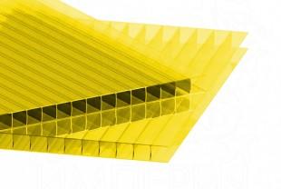 Сотовый поликарбонат IRROX толщина 6 мм, желтый